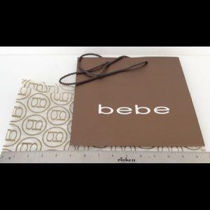 bebe Paper Shopping Bag & tissue